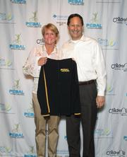 Teri and David Griege attended the Pedal The Cause yellow jersey event on Feb. 23.  Ms. Griege raised $50,760 last year.