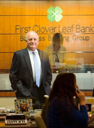 First Clover Leaf Bank President and CEO Dennis Terry