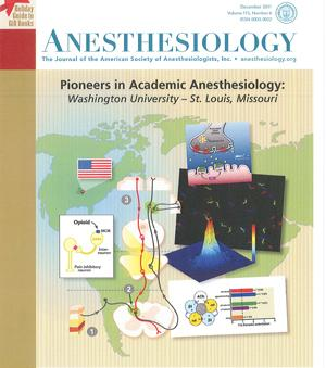 The December issue of Anesthesiology, highlights research being done in the Department of Anesthesiology at Washington University School of Medicine.