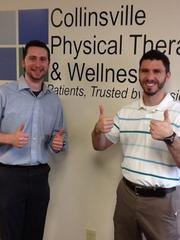 Dale Thuet (left), physical therapist, and Billy Weissert, lead physical therapist at Collinsville Physical Therapy