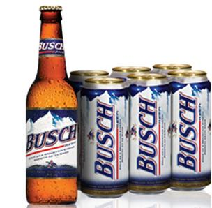 Anheuser-Busch's products include Busch, Budweiser and Bud Light.