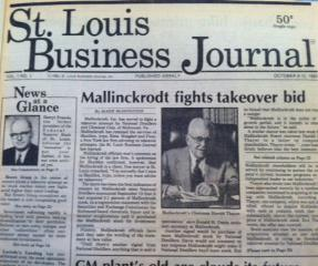 The St. Louis Business Journal's front page from its very first issue, Oct. 6, 1980.