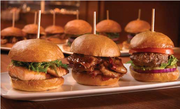 Stadium Sports Bar and Grill: Located in Lumiere Place casino, this 265-seat restaurant offers a 15-seat VIP room and more than 50 high-definition flat screen televisions. Popular items include four varieties of Sliders: angus beef, pulled pork, smoked beef brisket and ginger-soy salmon.