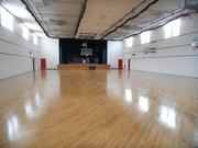 The renovated gymnasium at Chaminade College Preparatory School. The school poured $160,000 into the renovations.