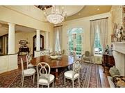 Litzsinger: The two-story dining room has a fireplace.