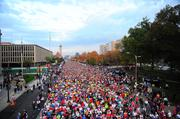 A sea of people flooded Market Street for this year's Rock 'n' Roll Marathon. Over 16,750 runners participated in the half marathon, while close to 4,500 ran the full marathon.