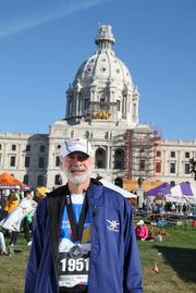 Ron Rubin, 62, the CEO of The Republic of Tea, finished the 10-mile race in one hour, 46 minutes and 24 seconds