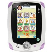 4. The LeapFrog LeapPad Explorer Tablet (pink version), which is selling for $99.99 at Sears, is intended for children between the ages of four and nine. The tablet features a built-in camera, allowing your child to create movies.