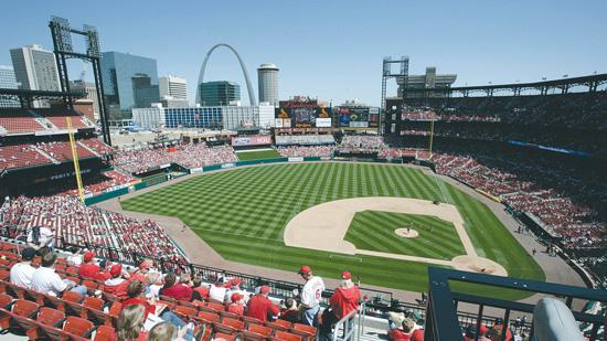 The St. Louis Cardinals home-opener on Monday was the largest regular season crowd ever at Busch Stadium.