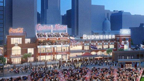 Ballpark Village is scheduled to open April 2.