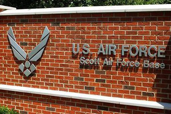About 4,500 civilian workers at Scott Air Force Base will be affected by the unpaid furloughs.