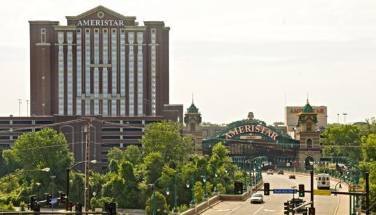 Ameristar in St. Charles saw its revenue rise 4 percent in September to $22.4 million, compared with $21.6 million in the same month last year.
