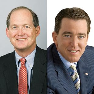 David Kemper (left) is CEO of Commerce Bank, and his cousin, Mariner Kemper, is CEO of UMB Bank.