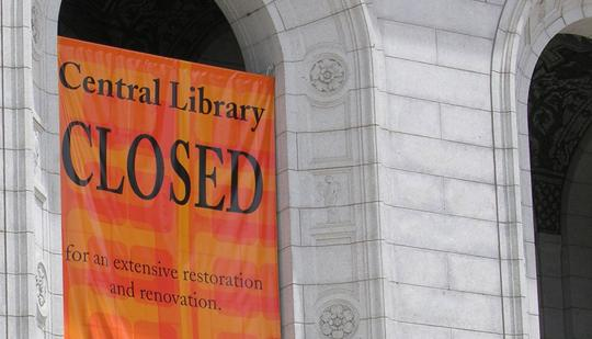 Central Library is expected to reopen next year.