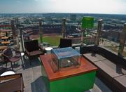 Toni Poole, general manager of the new Three Sixty bar atop the Hilton St. Louis at the Ballpark, is planning ahead.
