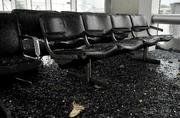 Friday's storms damaged Lambert airport.