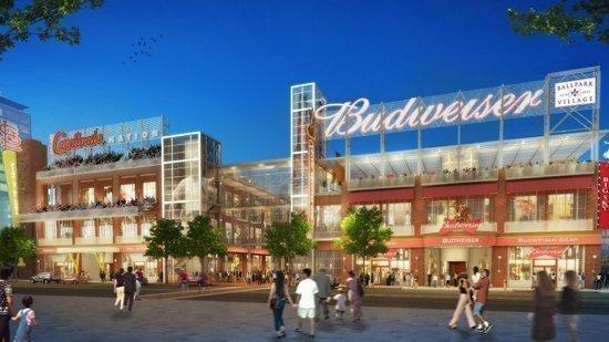 A rendering of Ballpark Village