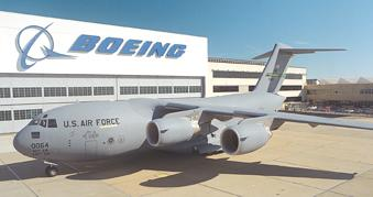 The final assembly of the Boeing C-17 takes place in Long Beach.