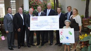 Representatives from St. Louis Hyundai dealers and St. Louis Children's Hospital met this morning at the Olson Family Garden at St. Louis Children's Hospital for the grant presentation.