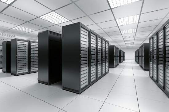 Storage at a data center.