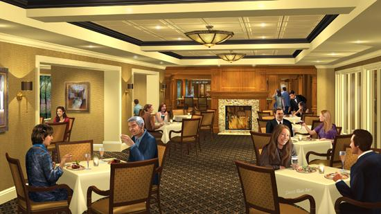 A rendering of the planned dining room renovation at Forest Hills Country Club.