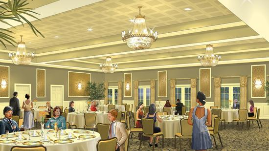 A rendering of the ballroom renovation slated to begin this summer as phase two of Forest Hills Country Club's multimillion-dollar renovation. Phase two is slated for completion by September.