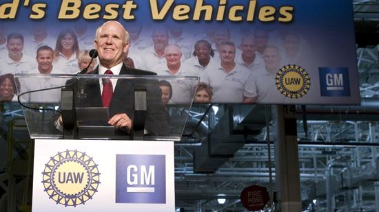 GM Chairman and CEO Dan Akerson was at the company's Toledo, Ohio, transmission plant Tuesday to announce the auto maker's planned $2 billion investment in its facilities.