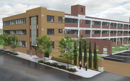 A rendering of the $10 million Laclede Lofts.
