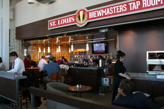 St. Louis Brewmasters Tap Room opened in the Terminal 2 concourse at Lambert-St. Louis International Airport.