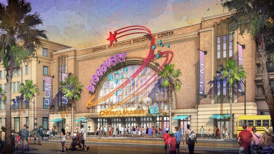 A rendering of the Discovery Children's Museum in Las Vegas.