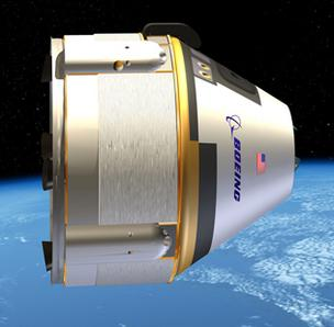 Boeing Co.'s Crew Space Transportation (CST)-100 can carry a crew of seven.