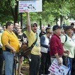 SLIDESHOW: 150 protest at Peabody Energy shareholders meeting