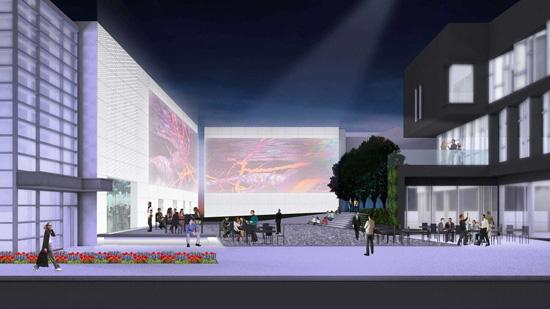 A rendering of Public Media Commons.