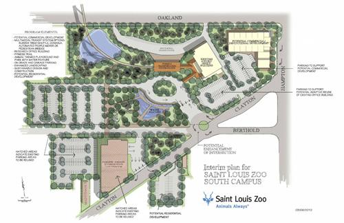 A rendering of the 3.5-acre Forest Park Hospital site