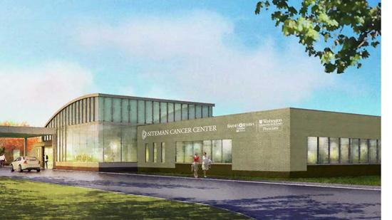 An artist's rendering of the Alvin J. Siteman Cancer Center in south St. Louis County.