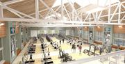 Artist's rendering of the renovated Athletic Complex at Washington University. Gary Sumers, senior managing director and COO in the real estate group of the Blackstone Group, and his wife, Rachel, have committed $12 million to help expand and modernize the facility.