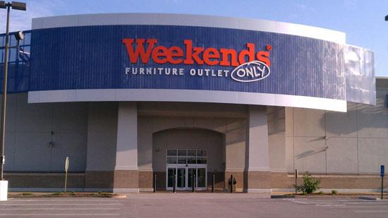 The Weekends Only Furniture store in West County.