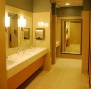 Renovations included new restrooms.
