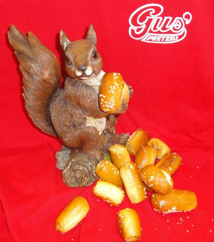 Rally Squirrel Pretzel Nuts sell for 15 for $1.50.