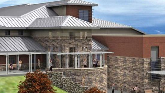 A rendering of the Armed Forces Reserve Center in Danbury, Conn.