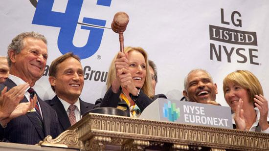The Laclede Group Inc. President and CEO Suzanne Sitherwood rang the closing bell at the New York Stock Exchange this afternoon.