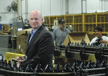 United Industries Vice President of Marketing and Operations Randy Lewis is helping oversee $8 million in investment in the company's St. Louis facilities.