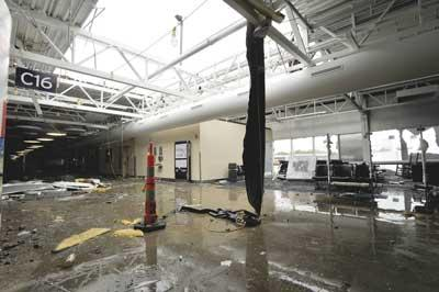 The airport is evaluating whether Concourse C, which lost its roof in the recent tornado, can be salvaged or needs to be entirely rebuilt.