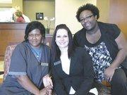 From left: Aretha Hudson, Stephanie Stoliar and Niketta Dailey of Residence Inn.
