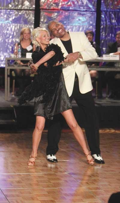 Arnold Donald, CEO of the Executive Leadership Council, and professional dancer Lucy Fitzgerald took top honors at Dancing with the St. Louis Stars.