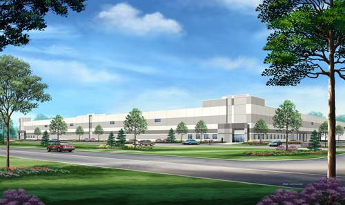This rendering depicts Panattoni Development's 227,500-square-foot industrial facility proposed for International Food Products.