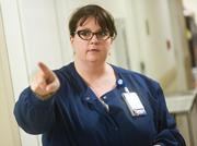 Jennifer Aycock, clinical nurse manager of the ICU, said the new ICU center provides extra space for workers, patients and family members. Aycock said the old ICU was overcrowded and the new unit features expanded space for equipment and medical practitioners.