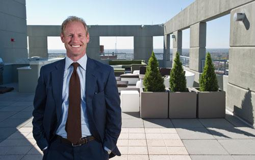 The Koman Group's Jason Braidwood said Clayton on the Park features a 10,000-square-foot rooftop deck with views of downtown St. Louis.