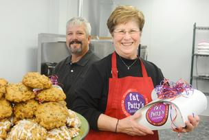 Chiles Food Service owner Greg Chiles (left) with Fat Patty's leader Pam Chiles (right), Greg's mom.