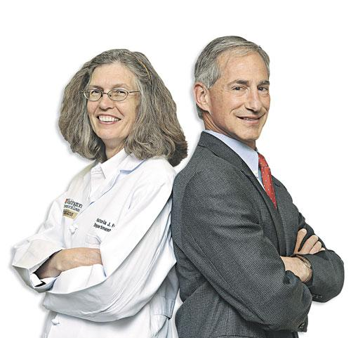 Dr. Steve Miller and Dr. Vicky Fraser met while getting fingerprinted and filling out paperwork at the Denver Veterans Affairs Hospital in 1983.